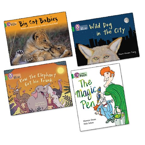 Big Cat Readers Pack: Book Band Green x 4