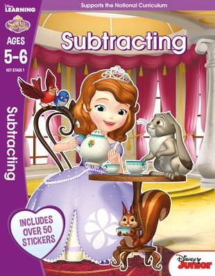Sofia the First - Subtracting Learning Workbook (Ages 5-6)