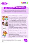 Starting school – communication and language