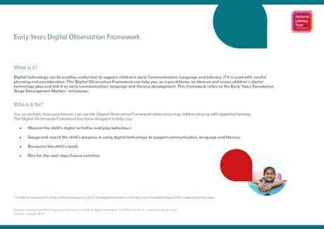 Early Years Digital Observation Framework
