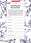 Little Billy and the Gruncher – poem planner (1 page)