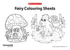 Fairy colouring sheets