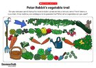 Peter Rabbit's vegetable trail