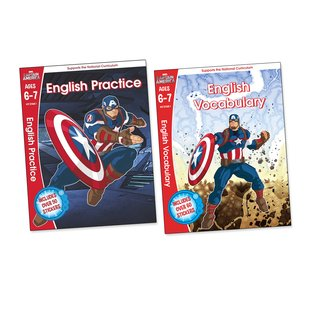 Captain America English Workbooks Ages 6-7 Pair