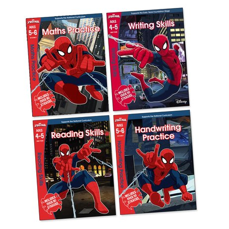 Marvel's Spider-Man Learning Workbooks Pack x 4