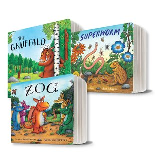 Julia Donaldson and Axel Scheffler Board Book Pack x 3