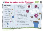 How to make a butterfly feeder (1 page)