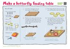 Build a butterfly feeding table