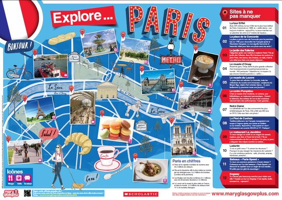 French Poster: Explore Paris!