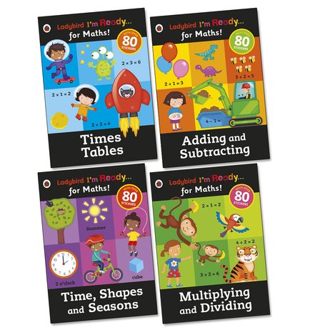 Ladybird I'm Ready... for Maths! Sticker Workbooks Pack x 4