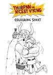 Thorfinn the Nicest Viking – colouring sheets (2 pages)