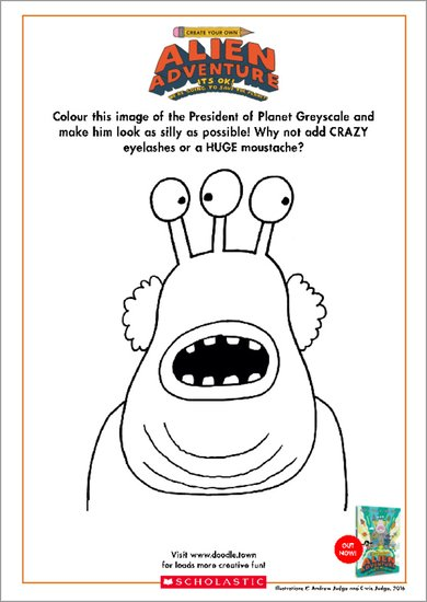 Colour the President Activity Sheet