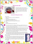 Make a pom-pom Robin - Free Downloadable (1 page)