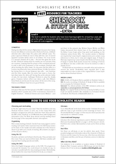 Sherlock: A Study in Pink - Sample Page