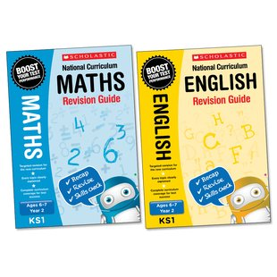 National Curriculum English and Maths Revision Guides Year 2 Pair
