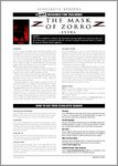 The Mask of Zorro - Sample Page (4 pages)