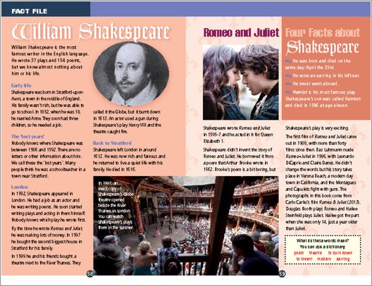 Romeo and Juliet - Sample Page