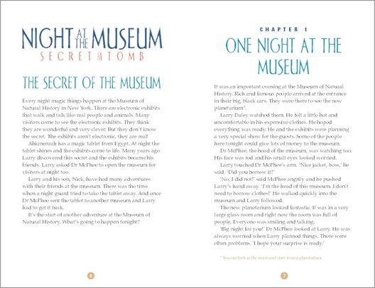 Night at the Museum: Secret of the Tomb - Sample Page