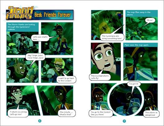 Storm Hawks Sample Page