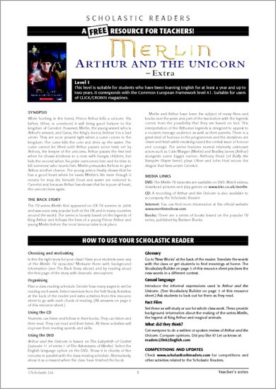 Merlin: Arthur and the Unicorn Sample Page