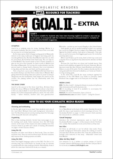 Goal! 2: Living the Dream Sample Page