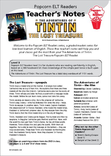 The Adventures of Tintin: The Lost Treasure Sample Page