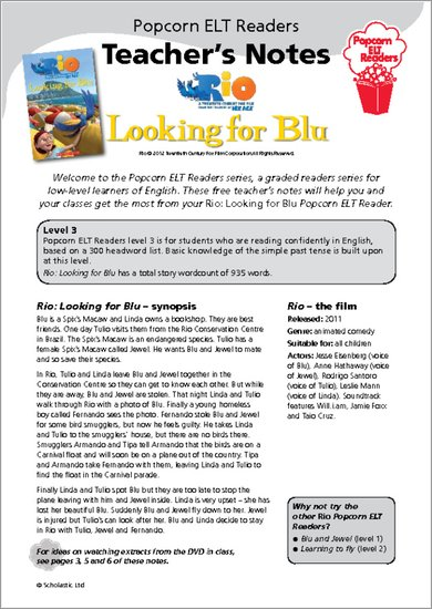 Rio: Looking for Blu Sample Page