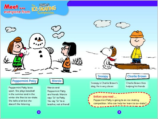 Peanuts: The Ice-Skating Competition Sample Page