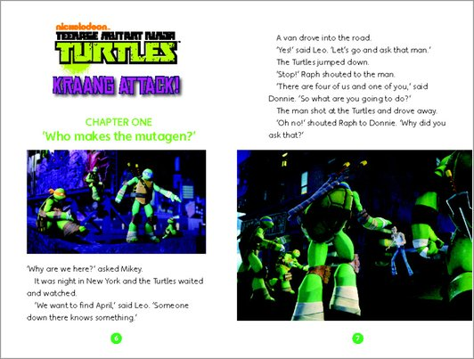 Teenage Mutant Ninja Turtles: Kraang Attack Sample Page