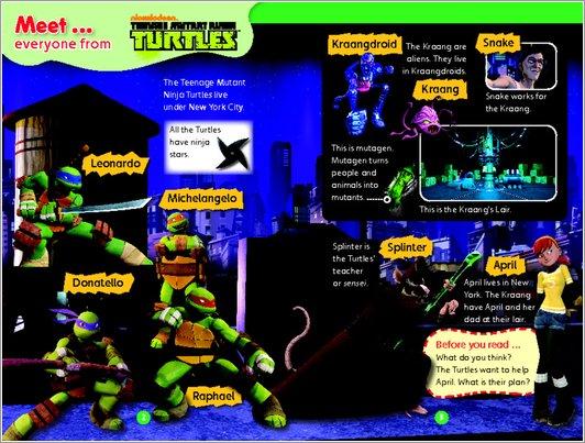 Teenage Mutant Nonja Turtles: Kraang Attack Sample Page