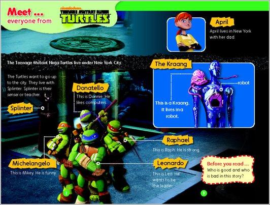 Teenage Mutant Ninja Turtles: Rise of the Turtles Sample Page