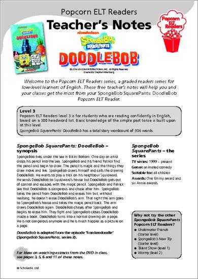 SpongeBob SquarePants: DoodleBob Teacher's Notes