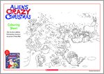 Alien's Crazy Christmas Colouring Sheet (1 page)