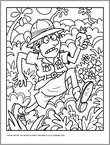 Fintan Fedora Colouring Sheet