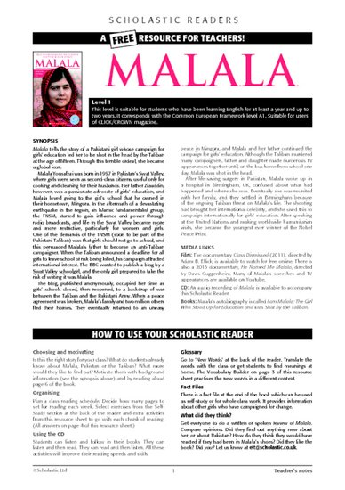 Malala Teacher's Notes