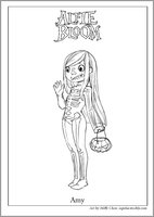Alfie Bloom Amy Halloween Colouring Activity