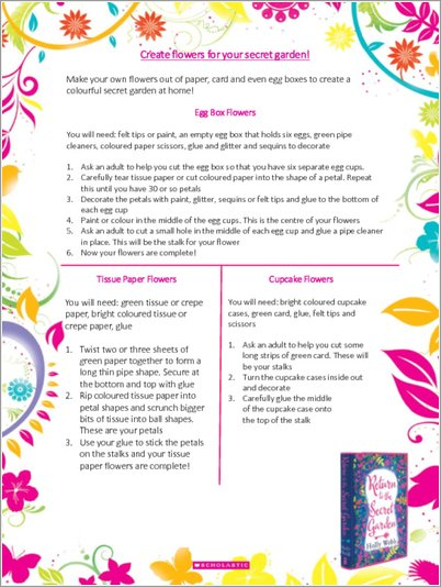 Create flowers for your Secret Garden - Free Downloadable