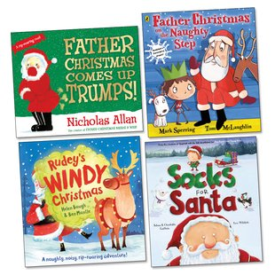 Funny Christmas Picture Book Pack x 4