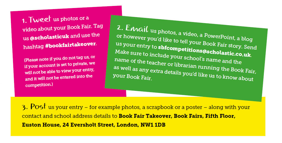 How to enter the Book Fair Takeover School of the Year Award