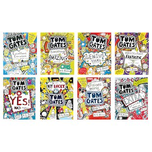 Tom Gates Pack x 8
