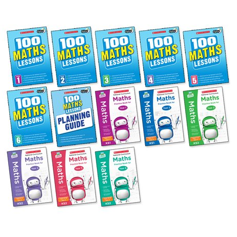 100 Lessons: National Curriculum Maths Years 1-6 Pack x 13