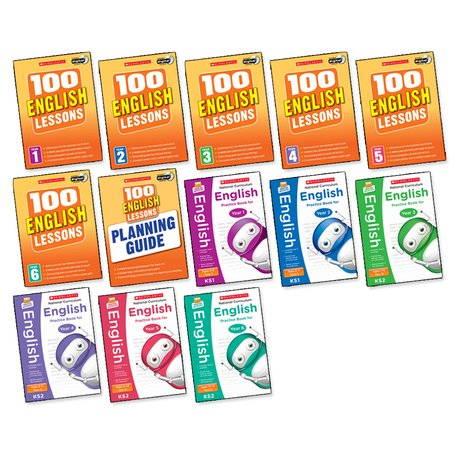 100 Lessons: National Curriculum English Years 1-6 Pack x 13