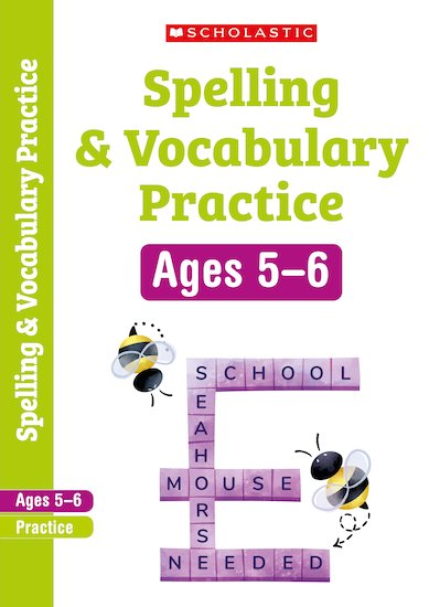 Scholastic English Skills: Spelling and Vocabulary Workbook (Year 1) x 6
