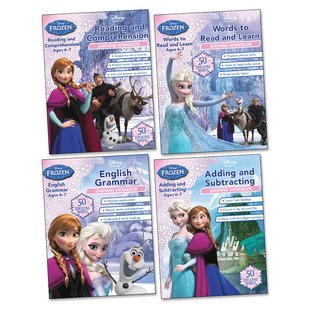 Disney Frozen Learning Workbooks Ages 6-7 Pack