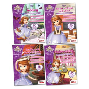 Sofia the First Learning Workbooks Ages 5-6 Pack