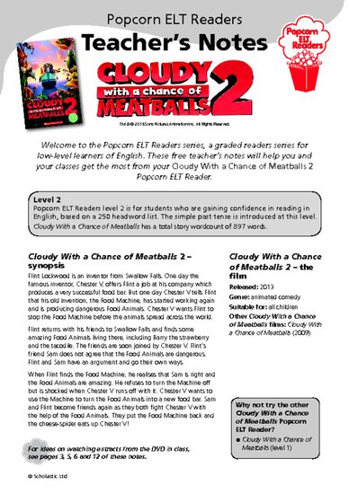 cloudy with a chance of meatballs 2 teacher's notes.pdf