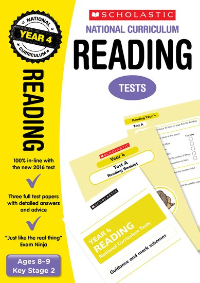 national curriculum sats tests reading tests year  enlarge cover