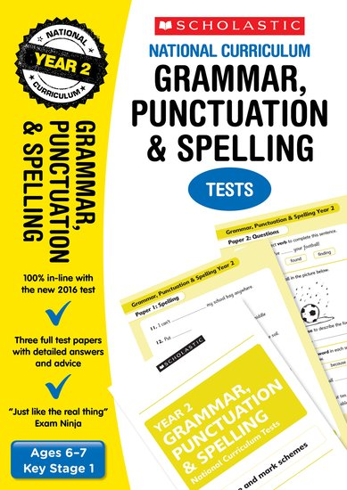 Grammar, Punctuation and Spelling Tests (Year 2)