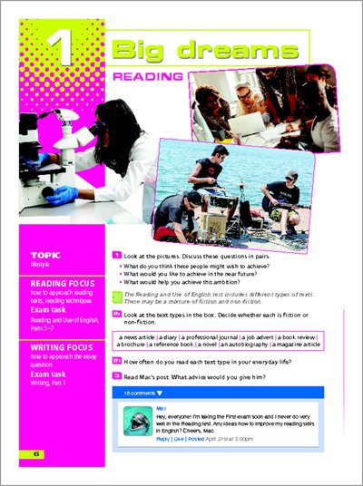Practice it! Smash it! Reading & Writing for First (FCE) - sample chapter