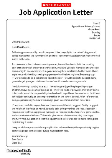 Writing formally example application letter primary ks2 teaching click to download spiritdancerdesigns